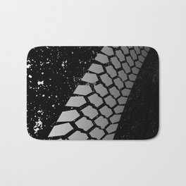 Grunge Skid Mark Bath Mat