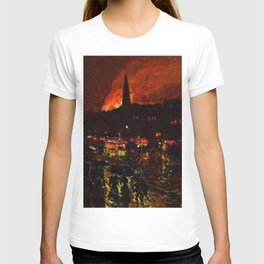 Classical Masterpiece 'Alarm Firelight - Boston' by Frederick Childe Hassam T-shirt