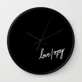 love | hate   [black & white] Wall Clock