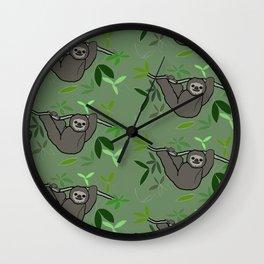 Happy Sloths Wall Clock