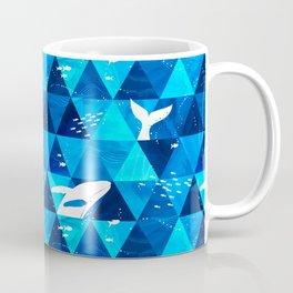 Blue Whale Jumping Coffee Mug