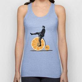 Orange Bicycle Unisex Tank Top