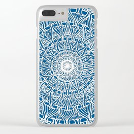 May your inner self be secure and happy (ocean blue) Clear iPhone Case