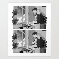 Kirk and Spock Art Print
