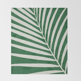 Minimalist Palm Leaf Throw Blanket