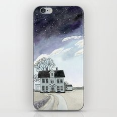 House under the Starry Skies iPhone & iPod Skin
