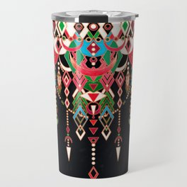 Modern Deco in Red and Black Travel Mug