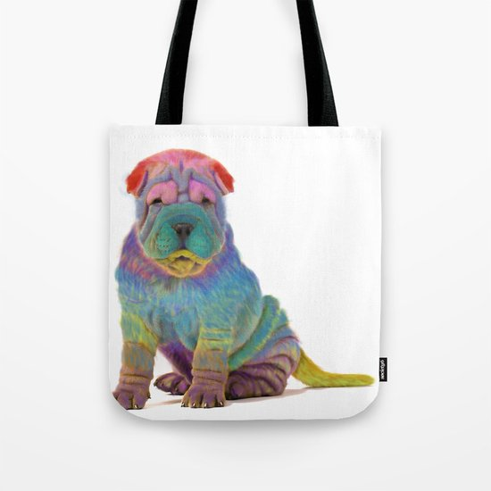 Colorful Sharpei Tote Bag