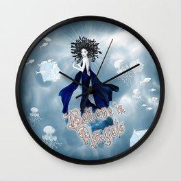 Believe in Angels Wall Clock
