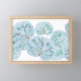 Sea Grape Tropical Leaves Framed Mini Art Print