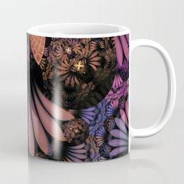 Pastel & Paisley Plume of Rainbow Fractal Feathers Coffee Mug