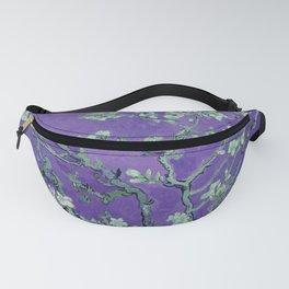 "Vincent van Gogh ""Almond Blossoms"" (edited purple) Fanny Pack"