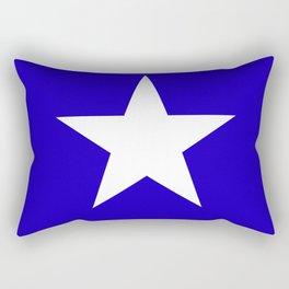 white star on blue background Rectangular Pillow