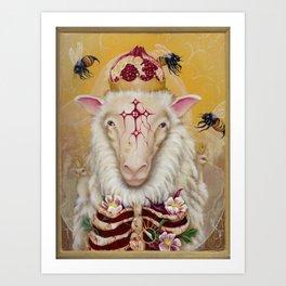 Sheep Go To Heaven Art Print