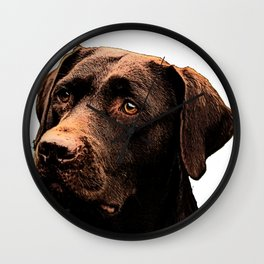 Chocolate Lab bywhacky Wall Clock