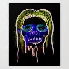 Face Illustration 2 Art Print