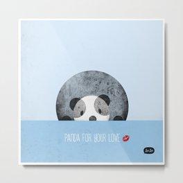 Panda for your love Metal Print