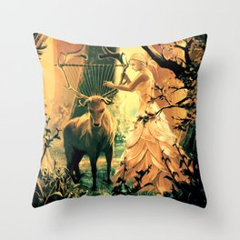 Feral Strings Throw Pillow