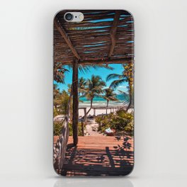Cabana view of the Beach (Color) iPhone Skin