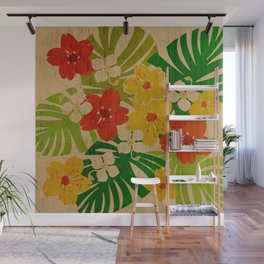 Limahuli Garden Hawaiian Floral Design Wall Mural