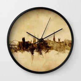 Newcastle England Skyline Wall Clock