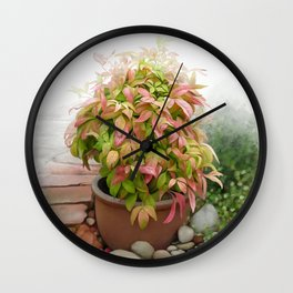 Leaves and Dew Wall Clock
