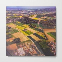aerial view on Switzerland Metal Print