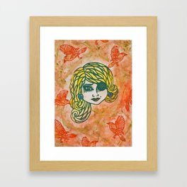 Pirate Lass I Framed Art Print