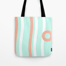 Turquoise & Coral (7) Tote Bag