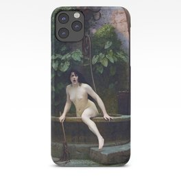 TRUTH COMING OUT OF HER WELL TO SHAME MANKIND - JEAN-LEON GEROME iPhone Case