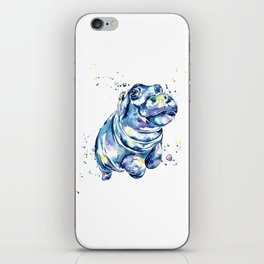 Hippo Colorful Watercolor Hippo Painting - Grace iPhone Skin