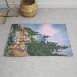 Bass Harbor Lighthouse Sunrise Print Rug