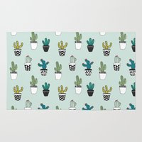 cacti Area & Throw Rugs featuring Cacti by Kelly Tucker
