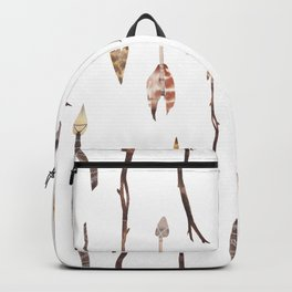 Boho Arrows with Feathers Backpack