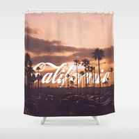 california Shower Curtains featuring California by thecrazythewzrd