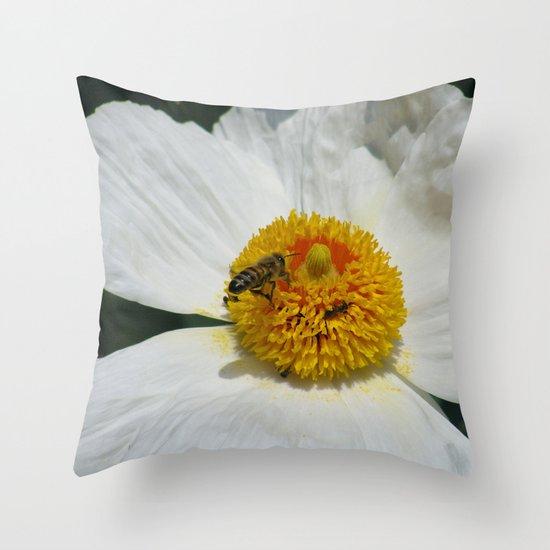 Entomophily Throw Pillow