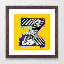 Z for …. Framed Art Print