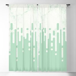 Marble and Geometric Diamond Drips, in Mint Blackout Curtain