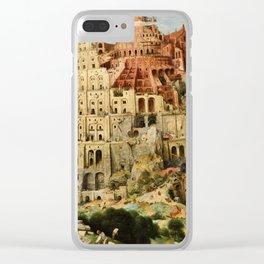 Pieter Bruegel The Elder - Babylon. Clear iPhone Case