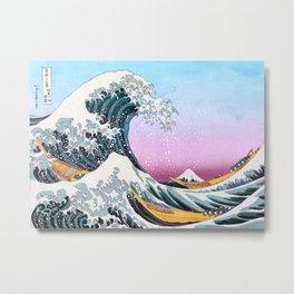 The Great Wave off Kanagawa - by Hokusai Metal Print