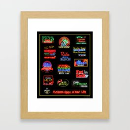 Bourbon Street Neon Signs Framed Art Print