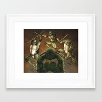 tmnt Framed Art Prints featuring TMNT by Ryan Caskey