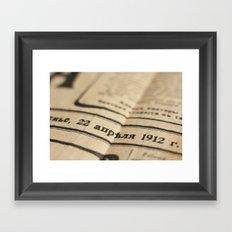 Old news Framed Art Print