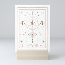 L'Etoile or The Star White Edition Mini Art Print