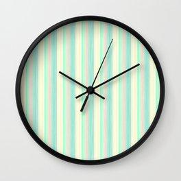 Turquoise Light Yellow Scrapbook Sherbert Wall Clock