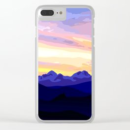 Triglav (2864m) Sunset Clear iPhone Case