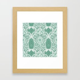 Arsenic and Clock Lace Framed Art Print