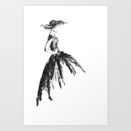 Retro fashion sketch Art Print
