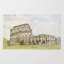 Colosseum, Rome Italy Rug