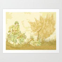 Battlefields of WW2 Art Print